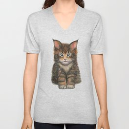 Little Kitten II Unisex V-Neck
