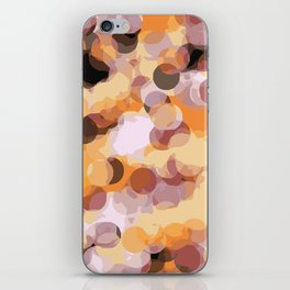orange brown and black circle abstract background iPhone Skin
