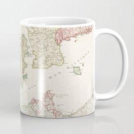 Vintage Map of Denmark (1750) Coffee Mug
