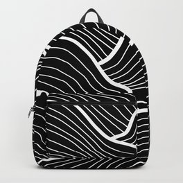 Abstract waves / black & white Backpack