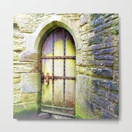 Magical Fairy Door Metal Print