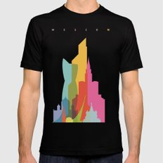 Shapes of Moscow Mens Fitted Tee MEDIUM Black