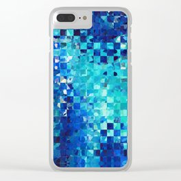 Blue Abstract Art - Pieces 2 - Sharon Cummings Clear iPhone Case