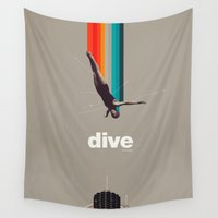 soul Wall Tapestries featuring Dive Into My Soul by Frank Moth