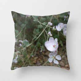 Bush Mallow along the Escondido Falls Trail Throw Pillow