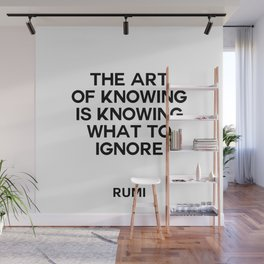 the art of knowing Wall Mural