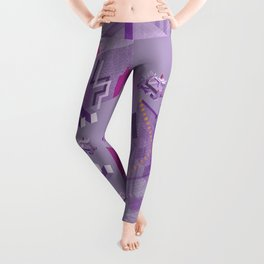Den of the Headless Lion in Purple and Lavender Leggings