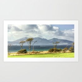 Isle of Arran from Portencross Ayrshire (2) Art Print
