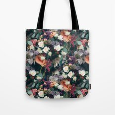 Floral Pattern with Roses Tote Bag