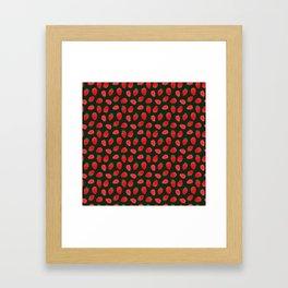 strawberries pattern Framed Art Print