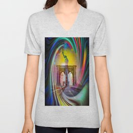 New York NYC Unisex V-Neck