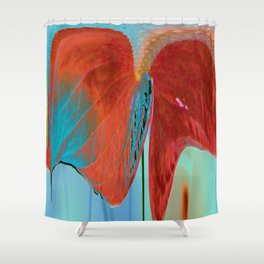 ABSTRACT FLORAL LANDSCAPE Shower Curtain
