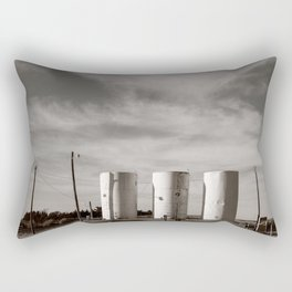 The Way Station in the High Plains Rectangular Pillow