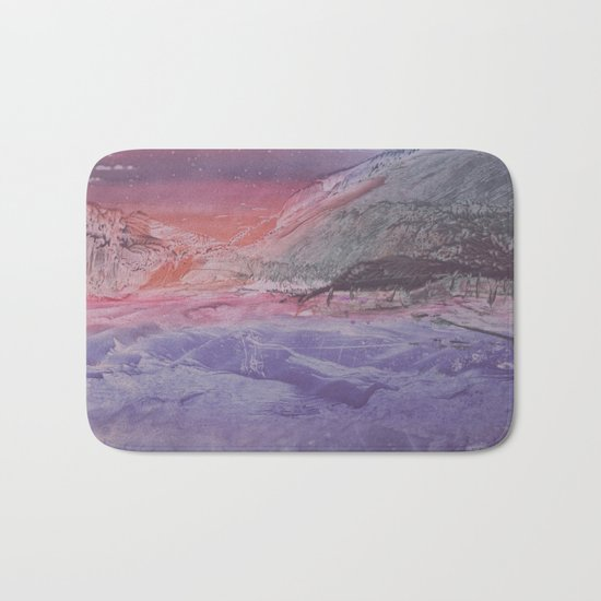 abstract composition with sunset Bath Mat