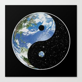 Earth / Space Yin Yang Canvas Print