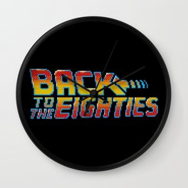 Back To The Eighties Wall Clock