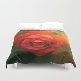 Beautiful Rose in Bloom Duvet Cover