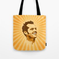 jack nicholson Tote Bags featuring Nicholson by Durro