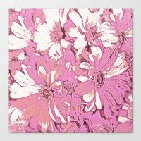 daisy Canvas Prints featuring Daisy  by Saundra Myles