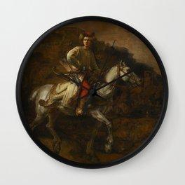 The Polish Rider - Rembrandt van Rijn Wall Clock