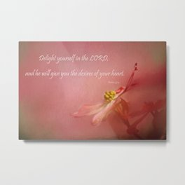 Delight Yourself Metal Print