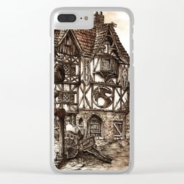 Medieval Town Clear iPhone Case