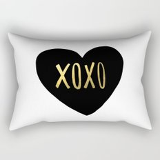 XOXO x Gold Rectangular Pillow