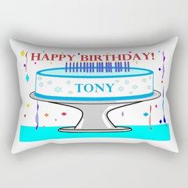 Happy Birthday Tony! Rectangular Pillow