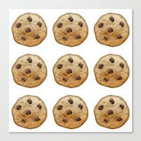 emoji Canvas Prints featuring COOKIE EMOJI by FaniS