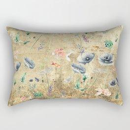 Fishes & Garden #Gold-plated Rectangular Pillow