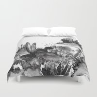 coral Duvet Covers featuring Coral by Fifikoussout