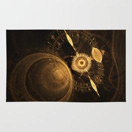 Golden Clock Rug