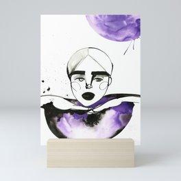 Kim-Chi posing and voguing Mini Art Print
