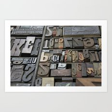 Typeface II Art Print