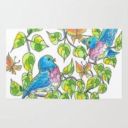 """Bluebirds"" Rug"