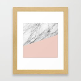 Marble and Pale Dogwood Color Framed Art Print