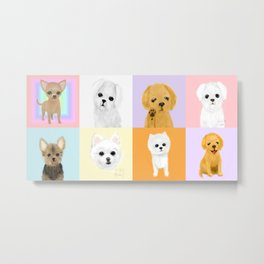 doggies on rug Metal Print