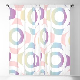 Circle composition in soft pastel colors Blackout Curtain