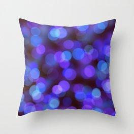 Bleu violet background | fond bleu violet Throw Pillow