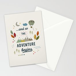 ...and so the adventure begins Stationery Cards