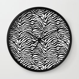 Zebra skin pattern Wall Clock