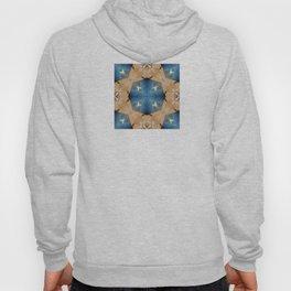 Hardwood and Denim Geometric Hoody