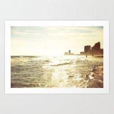 Sparkle Sunset Beach Art Print