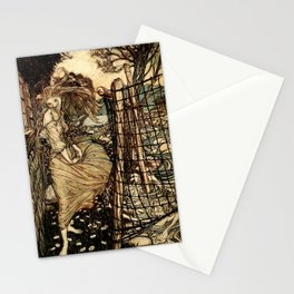 Arthur Rackham - Fouqué - Undine (1909) - Undine by the Water Stationery Cards