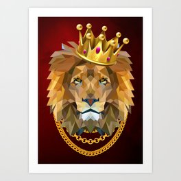 The King of Lions Art Print