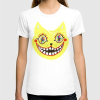 cheshire cat T-shirts featuring Cheshire Cat by Janna Morton