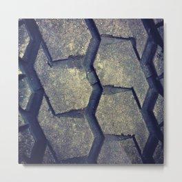 Big Rig Tire Tread Metal Print