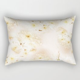 Lost in Antique White Flowers Rectangular Pillow