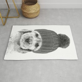 Black and White Cocker Spaniel Rug