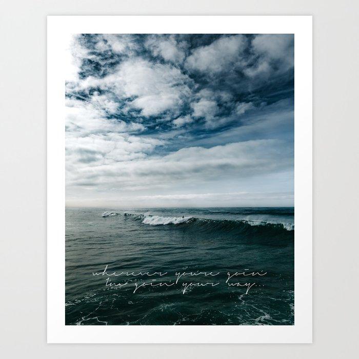 Surfing Ocean Beach San Diego Art Print